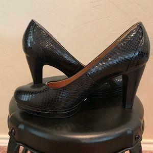 Black sofft brand heels, size 9.5